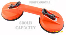"""4-1/2"""" Double Suction Puller Dent Remover 500LB Glass Holder Cup Repair Handle"""