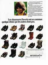 PUBLICITE ADVERTISING  1972   BEVERLY   chaussures enfants