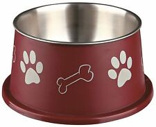 Pet Dog Food Water Dish Long-Ear Bowl Stainless Steel/Plastic Feeder by TRIXIE