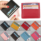 Men's Women's Small Real Leather Id Credit Card Wallets Holder Slim Pocket Case