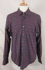 STEVEN ALAN Plaid Shirt Reverse Seam Button Front Size XL Made in the USA