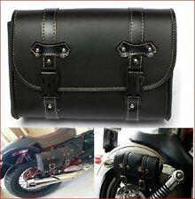 New Motorcycle Leather Saddle Bag Universal Fit Sports Pouch Motorbike Tool bag