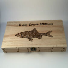 Fishing Fly Box  Personalised gifts perch,pike,salmon trout