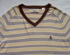 MENS PENGUIN DESIGNER THIN KNIT SUMMER JUMPER (L) L@@K - RETRO - WORN ONCE