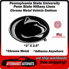 Penn State University Nittany Lions Chrome Metal Car Auto Emblem Decal