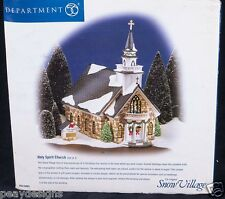 Dept 56 Snow Village Holy Spirit Church #55003 Retired Christmas Display