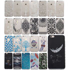 For iPhone SONY MOTO Wave Anti-Slip Pattern Clear Soft TPU Back Skin Case Cover