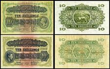 !REPLICA! 2 EAST AFRICA 10 SHILLINGS 1933, 1939 BANKNOTES !NOT REAL!