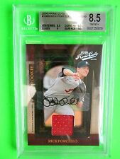 2008 Donruss Prime Cuts jersey card  Rick Porcello (#227/249)  BGS 8.5 (Auto 10)