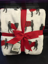 Gorgeous Super soft PUG dog Fleece Blanket, Throw Over - BRAND NEW, Xmas Gift