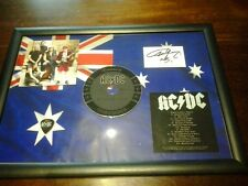 AC/DC BLACK ICE Framed CD Album With Facsimile Autograph ACDC Rock Band AC/DC