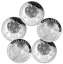 2016 1 oz Silver Armenian Noah's Ark Coins - 5 oz Total .999 fine (BU, Lot of 5)