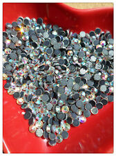 100 x Glass Hotfix Faceted Rhinestones - 4mm - Clear AB