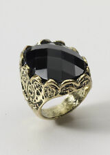 Black Stone Ring Renaissance Medieval LARP Cosplay Costume Accessory  Adult Size