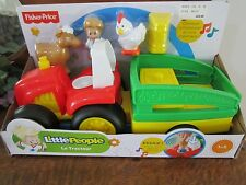 Fisher Price Little People Movers Tractor Farm Cow Chicken hay sounds NEW wagon