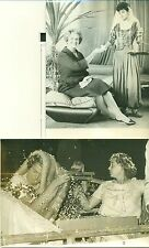 2 PHOTOGRAPHIES ORIGINALES BEGUM AGA KHAN Yvette LABROUSSE 1963-1959