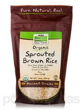 NOW� Real Food - Organic Sprouted Brown Rice - 16 oz (454 Grams) by NOW