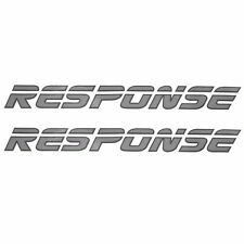 MALIBU RESPONSE SILVER / CHARCOAL 20 X 2 INCH VINYL BOAT DECALS (PAIR)