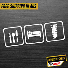EAT SLEEP DRAG RACE JDM CAR STICKER DECAL Drift Turbo Euro Fast Vinyl #0651