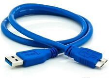 USB 3.0 Type A Male To B Micro Cable Data Sync HDD Hard Disk Blue Lead