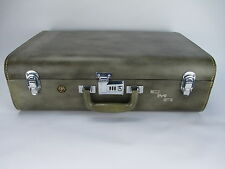 "Vintage WILT Luggage Luxury Leather Wardrobe Trunk Suitcase 25"" x 19"" x 8 1/2"""