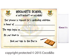 Coco&Bo 5 x Magical Wizarding Hogwarts Party Invitations Harry Potter Decoration