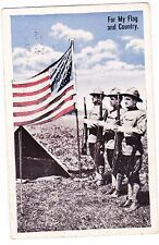 FOR MY FLAG AND COUNTRY---WWI--1918 POSTCARD