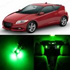 11 x Super Green LED Lights Interior Package Kit For Honda CR-Z 2011 - 2014