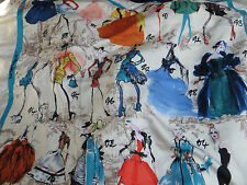"NWT CHRISTIAN LACROIX 100% SILK  SCARF 34""x34"" MADE IN ITALY"