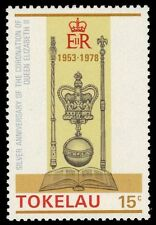 "TOKELAU 63 (SG63) - QEII Coronation Jubilee ""Crown, Scepter, Orb"" (pa30894)"