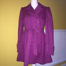 Gorgeous Ladies Raspberry Pink Mac Trench Coat By Next -size 14 New With Tag