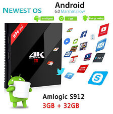 3GB 32GB H96PRO+ Smart Android 6.0 TV Box Amlogic S912 Octa core WiFi BT4.0 KDOI
