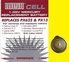 Canon F1 - Battery 1.35 V Zinc/air - WeinCell MRB 625 - Replaces PX625 PX13 MR9