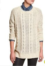 NEW!! NWT $89 Banana Republic Flaxseed Tunic Sweater Sz M