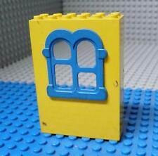 LEGO Fabuland Building Wall 2x6x7 with Squared Blue Window x 1PC