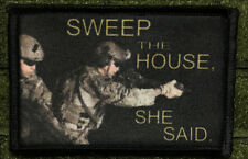 Sweep The House Morale Patch Tactical ARMY Hook Military USA Flag AR15 Operator