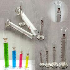 Kit 5+10+25+50+100ML Mini Cylindre Gradué Mesure Précise Tube Mesureur Verre Lab