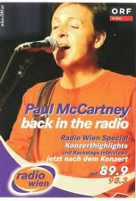 Paul McCartney Austrian promotional card  6x4  inches