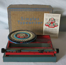 Early 1900's SIMPLEX TYPERWRITER SPECIAL DEMONSTRATED MODEL B with Box & Insert