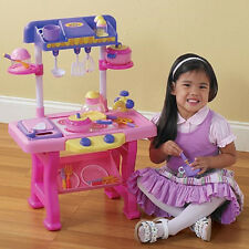 "Deluxe CHILD'S 35 PC KITCHEN PLAY SET NEW IN BOX 27"" HIGH Huge SALE!!!!"