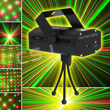Black Mini Projector DJ Disco Light Stage R&G Party Laser Lighting Show Plug NEW
