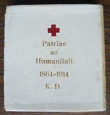 Austrian WWI Red Cross Bronze Enamel Ladies' Medal 1864-1914 in Original Box