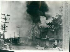 1942 World War II War Damage in Barrio Paranaque Original Wirephoto