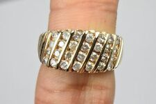 1.0 ct G/I1 Cluster Diamond Ring in 10k Solid Yellow Gold Not Enhanced USA Round