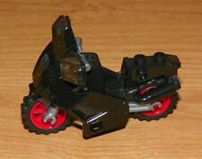LEGO - Minifig, Utensil, Motorcycle Fairing Style - Black w/ Red Wheels
