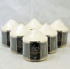 Set Of 6 Church Candle 50 Hour Ivory Wedding Non Drip Candle Classic Pillar