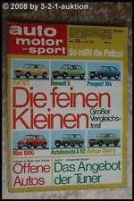 AMS Auto Motor Sport 12/73 * Opel Ascona Citroen Ami Super A 112 Mini