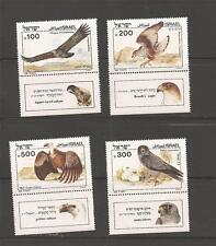Israel 1985 Biblical Birds Eagles Vultures Wide Phosphor Variety Bale 920a 921a