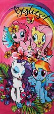 My Little Pony Day Out Beach Towel measures 28 x 58 inches