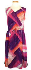 DKNY Jeans Womens Dress Sleeveless Printed Pink Purple Plus Size 22 NEW NWT $120
